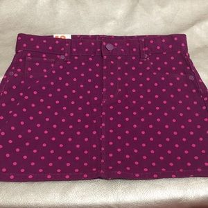 NWT Purple with pink dots skirts